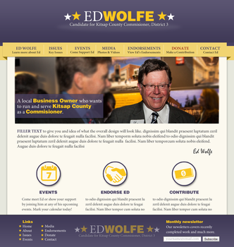 Ed Wolfe Campaign Website by fireproofgfx