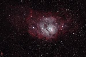 Lagoon Nebula from Fallbrook by DoomWillFindYou