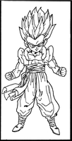 Gotenks Lineart by Dtracon