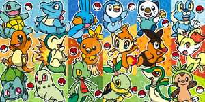 Pokemon Starter Bookmarks by spiffychicken