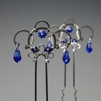 Sapphire Hair Pins- SOLD by YouniquelyChic
