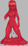 Red Slimegirl by TwistedScarlett60