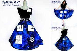 Galaxy Tardis Doctor Who Pinup Cosplay Skirt by DarlingArmy