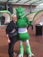 My friend and her Scyther by EmeraldSILVER