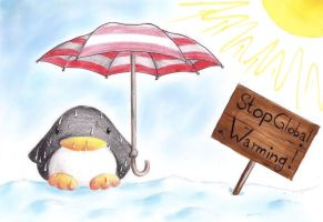 Global Warming Penguin by B-Keks