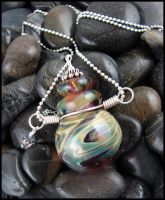 Afterglow - Glass Lampwork Bottle Pendant by andromeda