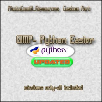 Gimp-Python support easier by photocomix-resources