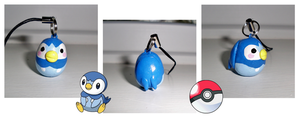 Poke-Peeps Cellphone Charm - Piplup by UniqueTreats
