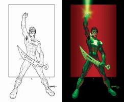 RAHeight's Green Lantern by TheBob74