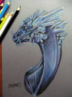 Crystal Dragon. by Bazted