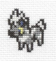 Blitzle cross stitch by Lil-Samuu