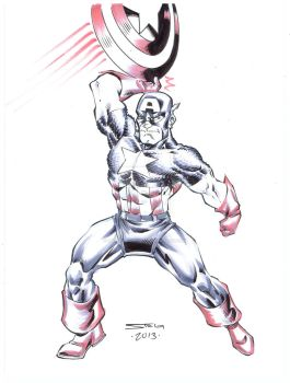 Captain America sketch by MarkStegbauer