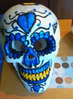 Day of the Dead Blue Hearts Theme by Buddhadragon