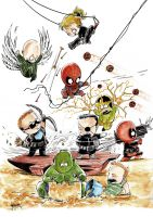 Marvel-babies water color_01 by ickhwano