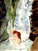 Isle Esme - At the Waterfall by LittleSeaSparrow