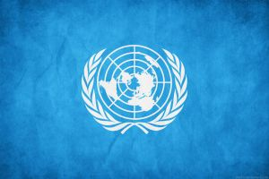 United Nations Flag Grunge by think0