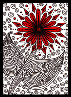 Red Flower ACEO 12 by Siobhan68