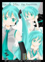 Hatsune Miku Age regression by LeneZone