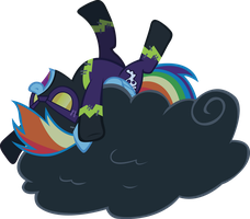 Rainbow Dash Shadowbolt Laugh by RainbowCrab