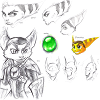 Various RaC drawings by Aluinashryu