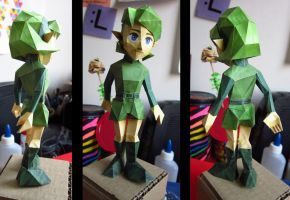 Saria papercraft (detalles) by ConsuJay
