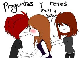 Preguntas y retos,Emily y Mateo -NO MAS- by Mikapower19