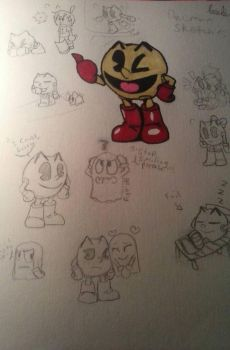 pacman sketches by Endermanwatchesyou
