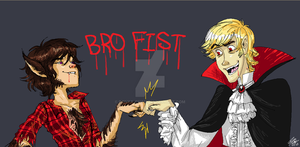 DUDE, Bro Fist by Bonka-chan