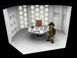Dr WHO TARDIS console model by Scarecrovv