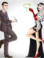 Cruella and Isaac by AnnettaSassi