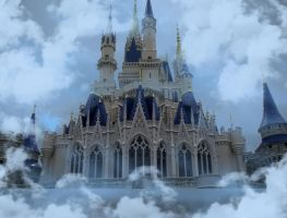 Castle in the CloudsBackground by WDWParksGal-Stock