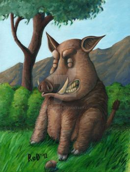 Smiling Boar by DuFfMaNRed