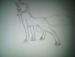 Lady Fox (3 am Sketch) by inukurosaki