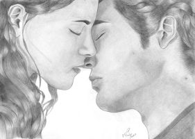 Bella and Edward's Kiss by MoonieTenshi