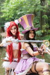 Caitlyn and Katarina by Angel--Arwen