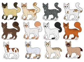 Point Adoptable Batch - Cats by ElkAdopts