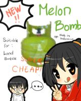 The MELON BOMB by Indonesia-tan