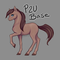 MOVED! Pony Adoptable Base [P2U] by CoyoteAdopts