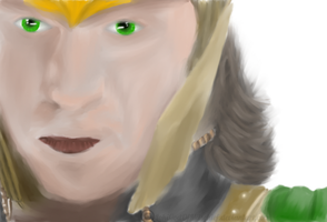 Loki close up (Speed Paint+Gift) by AStolenRelic