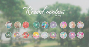 Round Avatars [PNG] by tutorialeslali