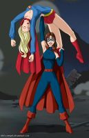 Black Flame defeats Supergirl by mhunt