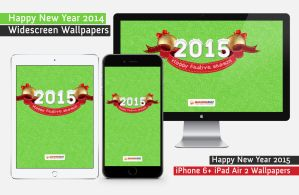 Free Happy New Year 2015 Wallpaper Pack by kashifmughal