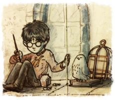 Sad Harry and Hedwig by ThiagoBuzzy