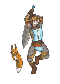 Hero and Pets (half-done) by Ephyly