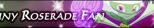 Shiny Roserade Fan Button by GeneralGibby