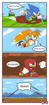 Gotta go fast! by SootToon