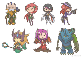 LoL mini chibis by ange-of-the-top-hat