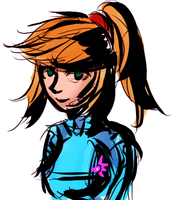 Samus doodle by AkariMMS