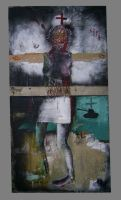 nurse with wounds by wojcek