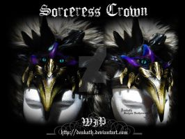 Commission: Sorceress Crown WIP by Deakath